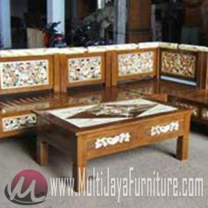 Kursi Sudut Marmer Multi Jaya Furniture Jepara Furniture