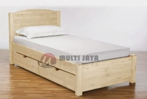 Tempat Tidur Minimalis Jati Belanda BR037. Dipan