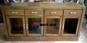 Bufet Jati Minimalis BF037