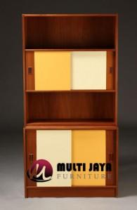 Rak Buku Minimalis Jati BF025